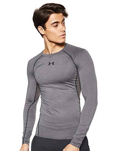 Under Armour Herren UA HG ARMOUR LS Langärmliges Funktionsshirt, Atmungsaktives Langarmshirt für Männer, Grau (Grey 1257471-090), Medium -