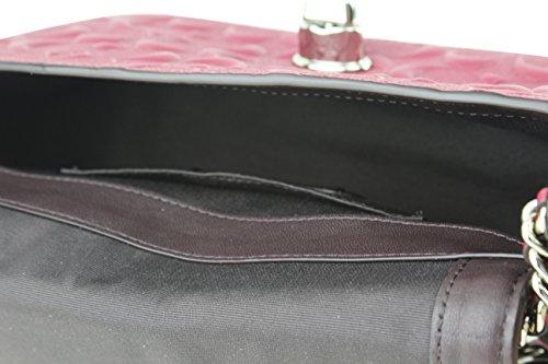 Coach Women's Lex Flap SV Hot Pink Signature Patent Leather Cross Body Bag, Style F28935