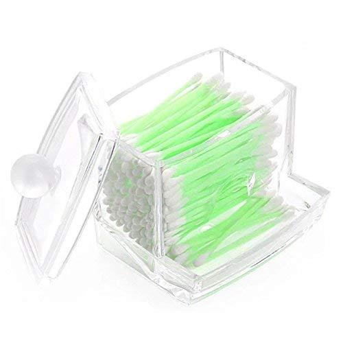 Da. WA Acrylique Transparent cotons-tiges Boîte de stockage de support Cosmétique Outil de maquillage étui de rangement Boîte à coton tiges Boîte Cosmétique étui de rangement Home