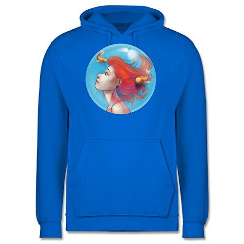 Statement Shirts - Unterwasser - Meerjungfrau - Männer Premium Kapuzenpullover / Hoodie Himmelblau