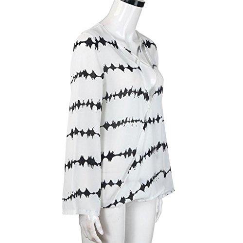 Morwind Blouse Femme Chic Fashion Top Femme Chemisier Femme Grande Taille Blanc