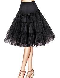 """Flora® Jupon années 50 vintage en tulle Petticoat,Longueur 63,5 cm/25"""""""