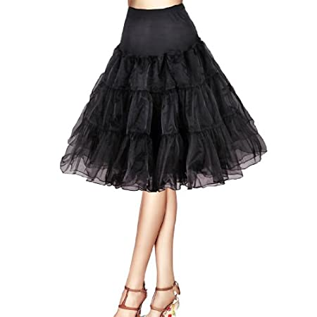 Flora® 50er Jahre Kleid Vintage Retro Reifrock Petticoat Unterrock, 25″ Länge Underskirt
