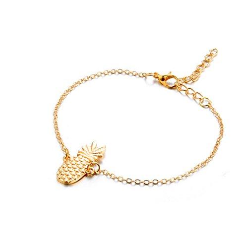 Moonuy Frauen Armband Gold Mode Sommer Shell Strand Fuß Kette Conch Sandale Barfuß Fußkettchen Perlen Armband Schmuck In Förderung (C) (Perlen Tank In Schwarz)