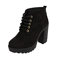 Catwalk Womens Black Synthetic Boots (2306C)- 7 UK