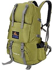 ubagoo 50L resistente al agua mochila de viaje senderismo Camping grande deportes al aire libre senderismo montañismo escalada Mochila vacaciones bolsa de equipaje, verde