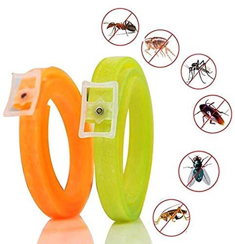 OOLOOYOO Verstellbares Floh- und Zeckenhalsband für Hundekatze, natürliche, ungiftige Wasserdichte Schädlingsbekämpfung (2er Pack),40cmforsmalldog
