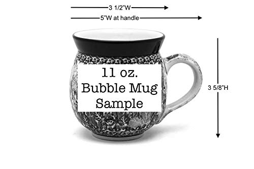 Polish Pottery Mug – 11 oz. Bubble – Unikat Signature U3271