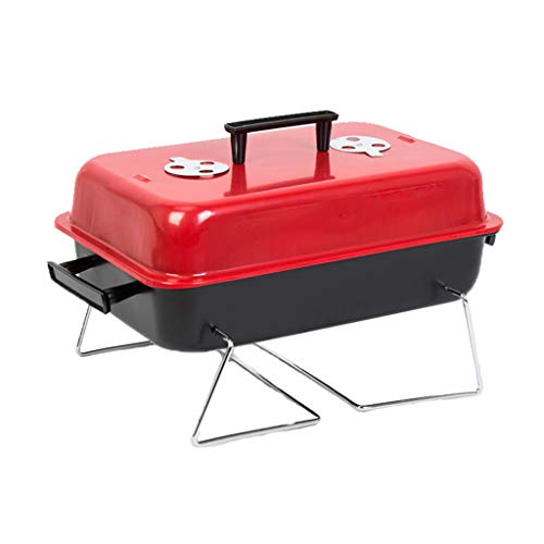 Outdoor-grill-wagen (BBQ Portable Faltbare Outdoor Reise Grill Wagen Tischgrills Tragbar Picnikgrill,Red)