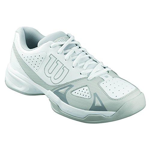 Wilson Rush Open 2.0, Men's Tennis Shoes, Multicoloured (White/Steel Grey/Cool Grey), 9.5 UK (44 EU)