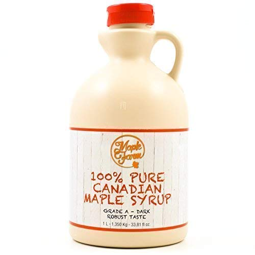 up Grad A (Dark, Robust taste) - 1 Liter (1,350 Kg) - Original Maple Syrup - Kanadischer maple ()