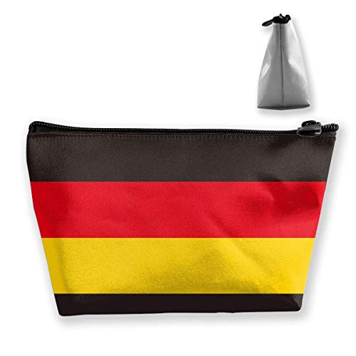 Kosmetiktasche für Frauen Make-up Pouch Münze Geldbeutel Nette Reiseveranstalter Tasche Deutschland Flagge Strapes - Tasche Make-up Daisy Duck