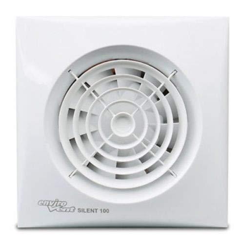Envirovent Silent 100 HT - Ventilador extractor de baño humidistat y temporizador
