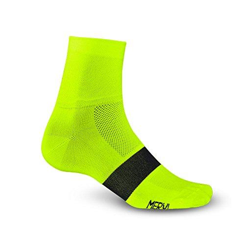 Giro Classic Racer Fahrrad Funktions Socken gelb/schwarz 2018: Größe: M (40-42) (Racer Socken)