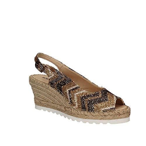 KEYS 5354 Sandalo zeppa Donna Platino