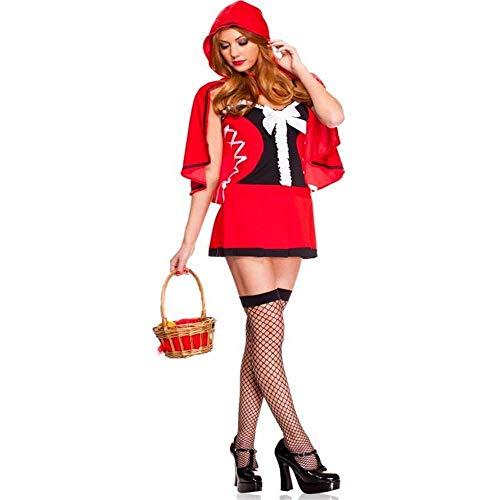 Frauen Kostüm Fee Blumen - Fashion-Cos1 Halloween Prinzessin Kleid Blume Frauen Kleider Weibliche Dornröschen Karneval Kostüm Fee Prinzessin Kleid Uniform (Color : Red)