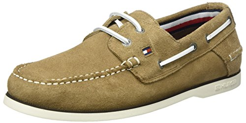 Tommy Hilfiger K2285not 1b, Chaussures Bateau Homme Beige (Taupe)