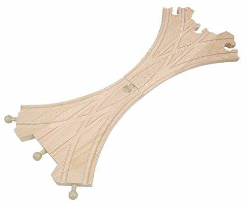 *HOLZEISENBAHN ZUBEHÖR EISENBAHN 2 WEICHE 3er HOLZ – paßt zu allen gängigen Holzschienen – Holzspielzeug – für Holzeisenbahn*