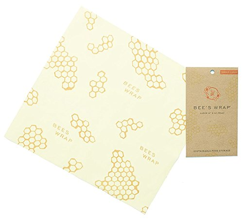 Bee's Wrap Emballage Alimentaire en Cire d'abeille, Grand, 33x 35cm, Beige