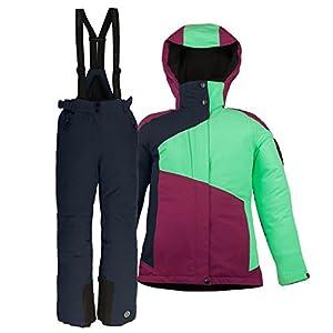 Killtec Kinderskianzug 2 teilig mit Einer dreifarbigen Skijacke + Uni Skihose. Atmungsaktiv: 3000 g/m²/24h Wassersäule: 8000 mm