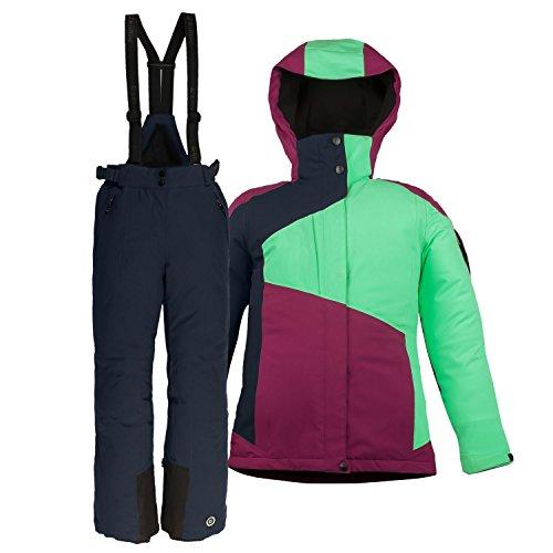 Killtec Kinder Skianzug Größe 128 Schneeanzug 2 TLG. Skijacke + Skihose – Peppermint dunkelnavy – Winddicht wasserdicht | 04061393025342