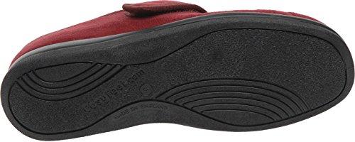 Cosyfeet Skye Schuhe - Besonders geräumig / Extra Roomy (breite Passform M+ Euro / 5E+ Width Fitting UK) Burgund, Mikrofaser