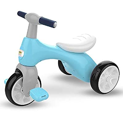Jiamuxiangsi Children's Tricycle Bicycle Baby Bicycle Child Scooter Free Inflatable 1-3-5 Years Old Silent Wheel Does Not Roll Over Portable Belt Toy Boy And Girl First Bicycle Birthday Gift Children