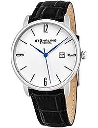 Stuhrling Original - 997L.01 Orologio da polso Quarzo Uomo cinturino in Pelle Nero
