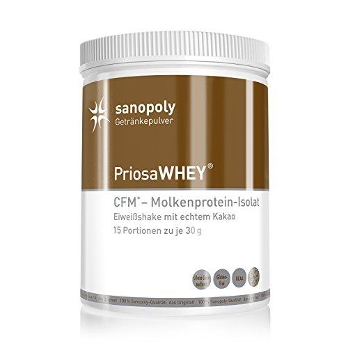 PriosaWHEY® - Eiweißshake für Gesundheitsbewusste   mit reinem entölten Kakao und Kokosblütenzucker   vegetarisch - Reine Kakao