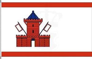 Königsbanner Hochformatflagge Bad Segeberg - 120 x 300cm - Flagge und Fahne