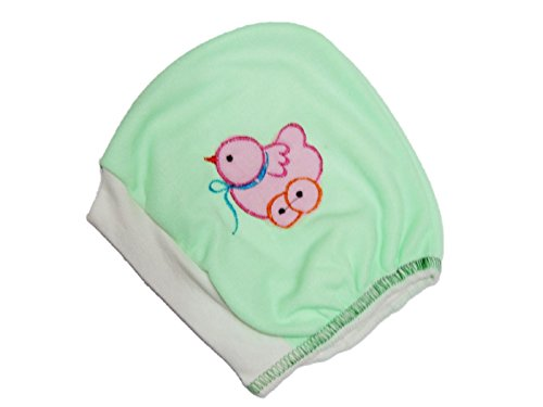 Platinum Exclusive New born Baby Caps with cotton string( size : 0 -6 months) in GREEN Color (Pack of 1 )  available at amazon for Rs.103