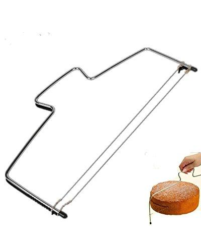 DAYAN Doppia linea regolabile metallo dell acciaio inossidabile Cake Cut Dispositivo Strumenti Cake Decorating affettatrice muffa Bakeware attrezzo della cucina Cooking