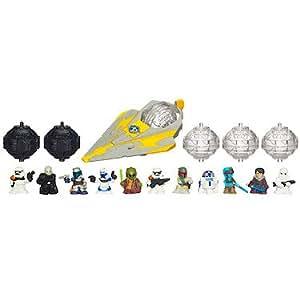 Star Wars – 38906 – Fighter Pods – Série 1 – Jedi Starfighter – Pack 12 Figurines Aléatoires