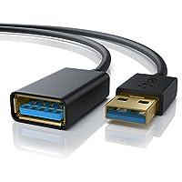 CSL-Computer Primewire - 1m USB 3.0 Câble de rallonge   Câble d'extension USB/rallonge USB   USB 3.0 A Femelle à USB 3.0 A mâle (Prise A > fiche A)   jusqu'à 5 Gbit/s   Double Blindage   Noir
