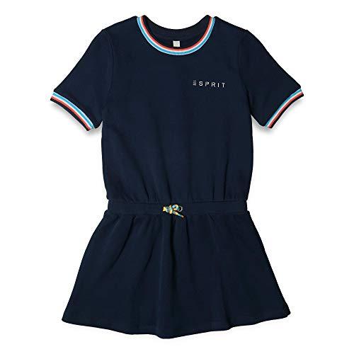 ESPRIT KIDS Mädchen Knit Dress SS Kleid, Blau (Navy Blue 470), 164 (Herstellergröße: L) -