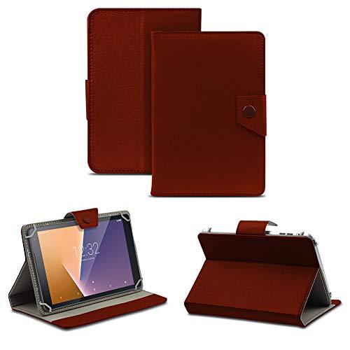 NAUC Tablet Tasche kompatibel für Vodafone Tab Prime 6/7 Schutzhülle Hülle Case Schutz Cover, Farben:Braun