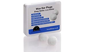 Time2Sleep Ear Plugs For Sleeping - Noise Cancelling Ear Plugs - Wax Ear Plugs - Block Out Snoring Partners