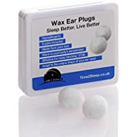 Wax Ear Plugs For Sleeping -Noise Cancelling - Reusable - Moldable - A Lifesaver For Light Sleepers - 8 pairs of natural wax ear plugs -Blocks Out Snoring Partners Allowing You The Best Sleep Possible