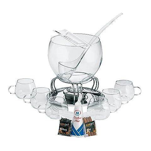 Kela 366160 Glas-Feuerzangenbowle-Set, Heinz Rühmann, 15-teilig, 3,5 l, Feuerzangenbowle Heinz