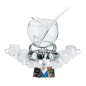 Kela 366160 Glas-Feuerzangenbowle-Set, Heinz Rühmann, 15-teilig, 3,5 l, Feuerzangenbowle Heinz Rühmann