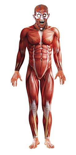 Smiffys Herren Anatomie Kostüm, Bodysuit und Maske, Größe: M, 21580