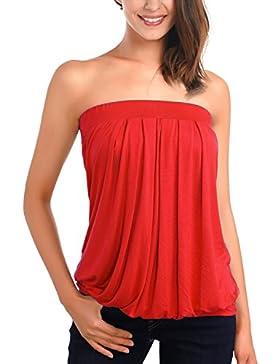 DJT Mujeres Top Camiseta Hombros Descubiertos