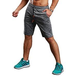 Srizgo Sporthose Herren kurz grau Trainingsshorts Jogginghose Fußballshorts Herren Shorts für Laufsport, Fitness (Verpackung/MEHRWEG)