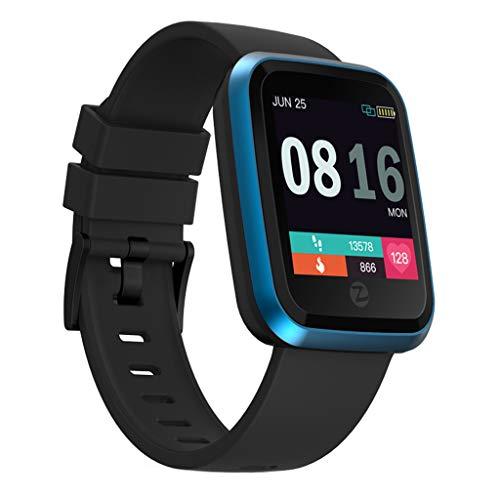 Knowin Smartwatch Fitness Uhr Zeblaze Crystal 2 Smart Armband IP67 Wasserdichter Farbdisplay Smart Watch mit Fitness Tracker Schrittzähler Armband mit Pulsmesser Herren Damen Kinder iOS Andriod Htc Touch Crystal