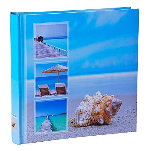 WELLGRO® Jumbo Fotoalbum BEACHES - für bis zu 400 Fotos 10x15 - 30 x 30 cm (HxB) - 100 Seiten , Motive:Muschel