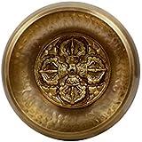 Mano Tibetana Golpeado meditación Cuenco con doble Bajre Hecho a mano a juego y protectora de la bolsa-HAM (BAJ) -1 (Pequeño)