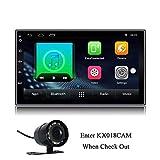 KX018 Android 7.1 Auto Stereo GPS Navigation Auto Radio AM/FM 2 DIN-Kopf-Einheit 1 GB RAM 16 GB ROM Spiegel Link Lenkradsteuerung BT Wi-Fi-Audio-Player USB-Anschluss 7 Zoll Touchscreen