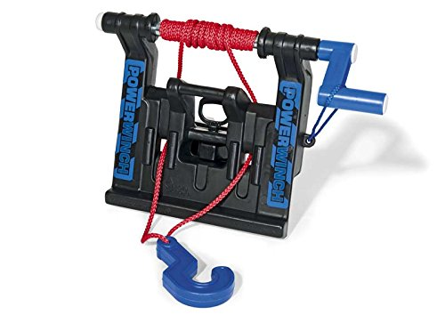 Rolly Toys 409280 Seilwinde Powerwinch, passt an Front und Heckkupplung aller großen Rolly Toys Traktoren und Unimog (geeignet für Kinder ab 3 Jahren, Farbe Schwarz)
