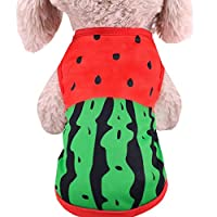 aiyvi Puppy Clothing,Pet Dog Summer Clothes Skirt Printing Cute Pet Puppy Vest Clothing Shirt