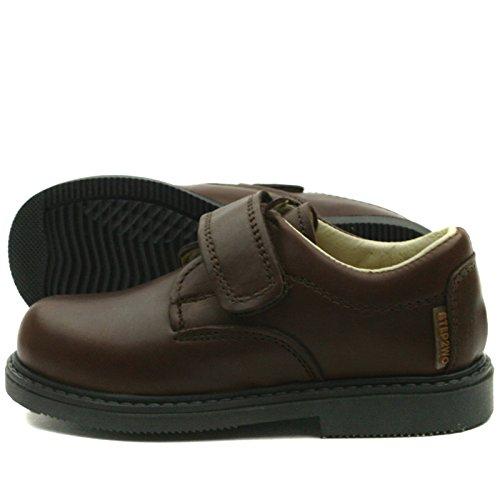 MATHEW Step2wo School Shoe Velcro Strap for Boys >      > École chaussures velcro pour les garçons Brown (marron)